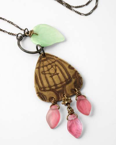 Vintaj Bird Song Necklace