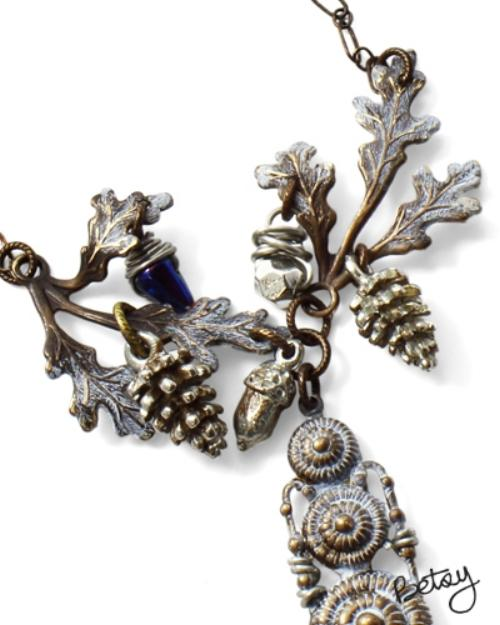 Vintaj Aristan Pewter 16x7mm Full Pine Cone Charm Example 3