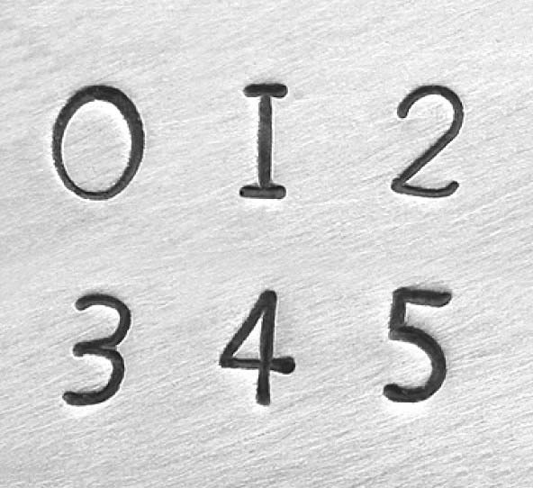 "3mm 1/8"" Alphabet Stamp Set - Newsprint Number - ImpressArt (Premium)"