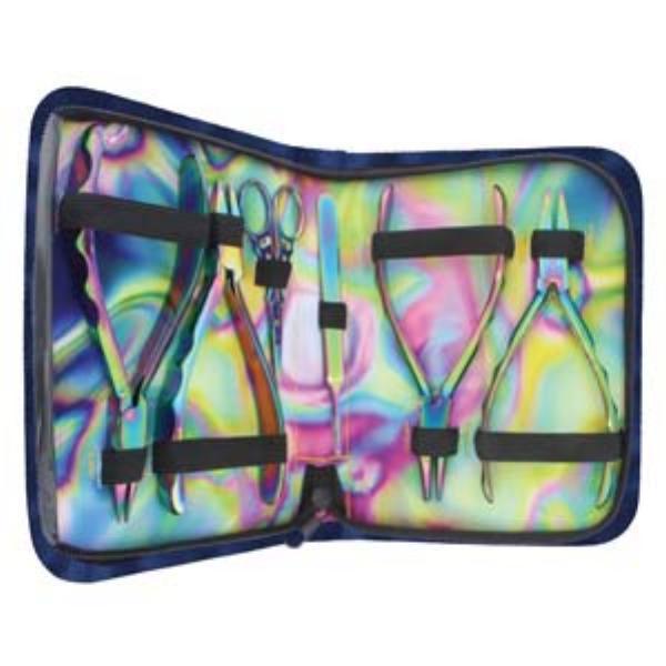 Beadsmith Pliers, Chroma Rainbow Titanium Set in Case UK 2