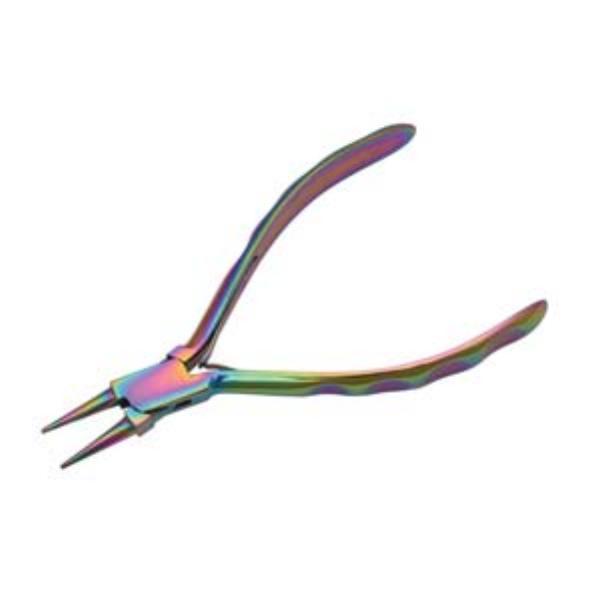 Beadsmith Pliers, Chroma Rainbow Titanium Round Nose Plier UK 2