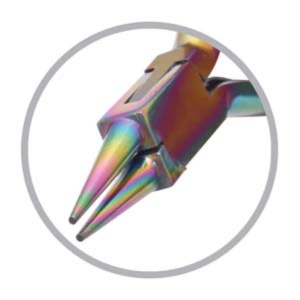 Beadsmith Pliers, Chroma Rainbow Titanium Round Nose Plier UK 1