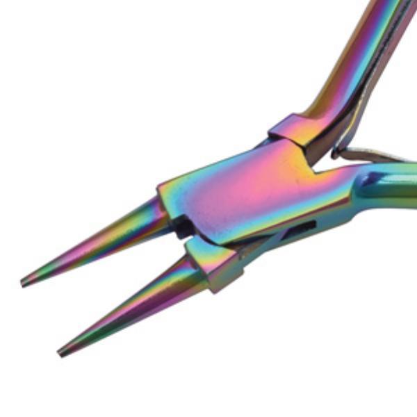 Beadsmith Pliers, Chroma Rainbow Titanium Round Nose Plier UK 3