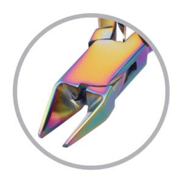 Beadsmith Pliers, Chroma Rainbow Titanium Flush Cutter Plier UK 1