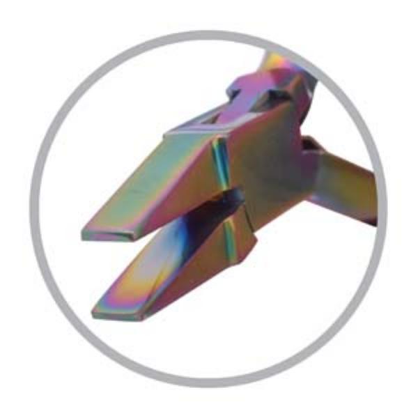 Beadsmith Pliers, Chroma Rainbow Titanium Flat Nose Plier UK 1