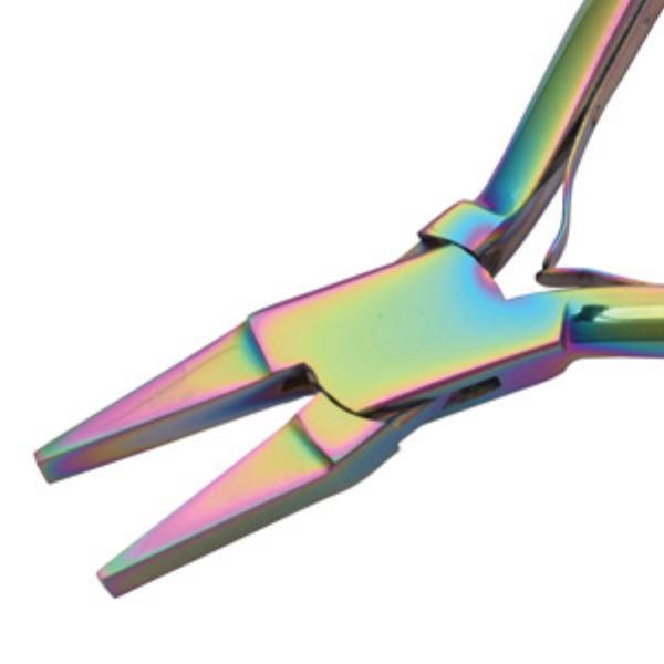 Beadsmith Pliers, Chroma Rainbow Titanium Flat Nose Plier UK 3