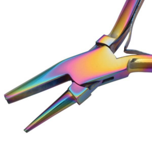 Beadsmith Pliers, Chroma Rainbow Titanium Round Concave Nose Plier UK 3