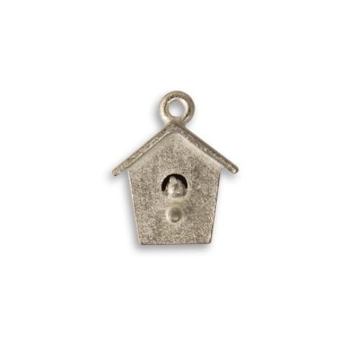 Vintaj Aristan Pewter 17x14mm Bird House Charm x1 UK
