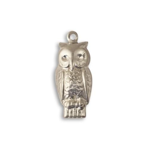 Vintaj Aristan Pewter 23x10mm Perched Owl Charm x1