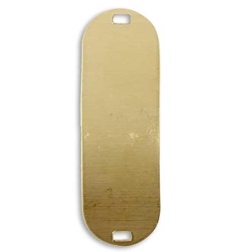 Vintaj Vogue Brass 47x15mm Oval Bracelet Blank x1