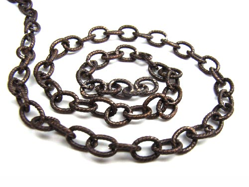 Brass ~ Natural Vintaj Petite Etched Cable Chain 4.5 x 6.2mm x1ft ~ 30cm