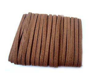 Faux Micro Suede Flat Cord 3mm - Coffee Brown per metre
