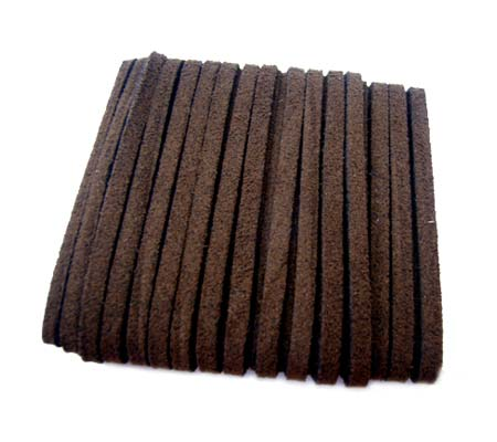 Faux Micro Suede Flat Cord 3mm - Chocolate Brown per metre