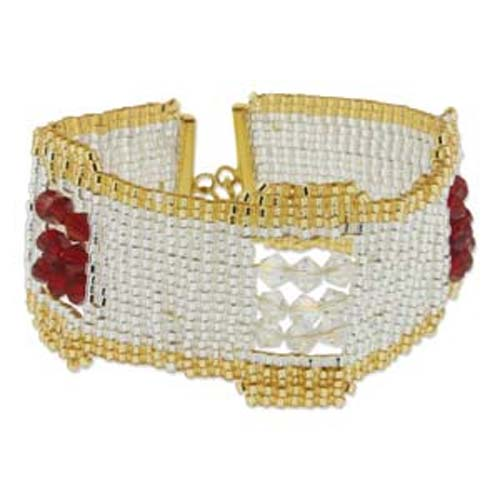 Beadsmith LoomakitCuff Jewellery Kit - Glittering Crystals 002
