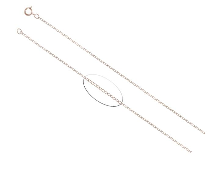 Rose Gold Filled Flat Cable Chain Necklace ~ 1.4mm 16in - 40.5cm