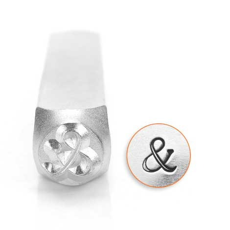 Ampersand & 6mm Metal Stamping Design Punches - ImpressArt