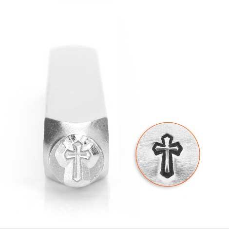 Cross Outline 6mm Metal Stamping Design Punches - ImpressArt