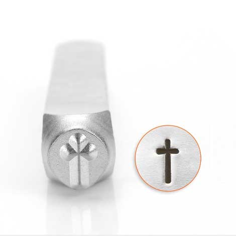 Rounded Cross 6mm Metal Stamping Design Punches - ImpressArt