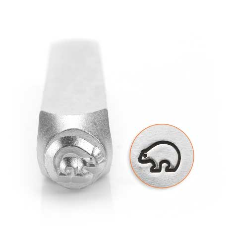 Zuni Bear 6mm Metal Stamping Design Punches - ImpressArt