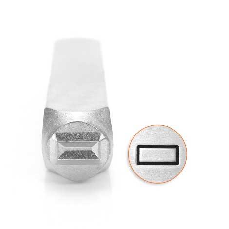Rectangle 6mm Metal Stamping Design Punches - ImpressArt
