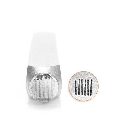 Vertical Lines 6mm Metal Stamping Design Punches - ImpressArt