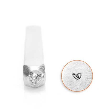 Boogie Heart 6mm Metal Stamping Design Punches - ImpressArt