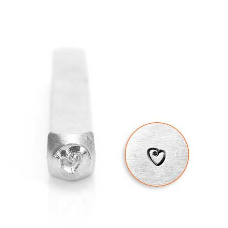 Fat Heart 6mm Metal Stamping Design Punches - ImpressArt