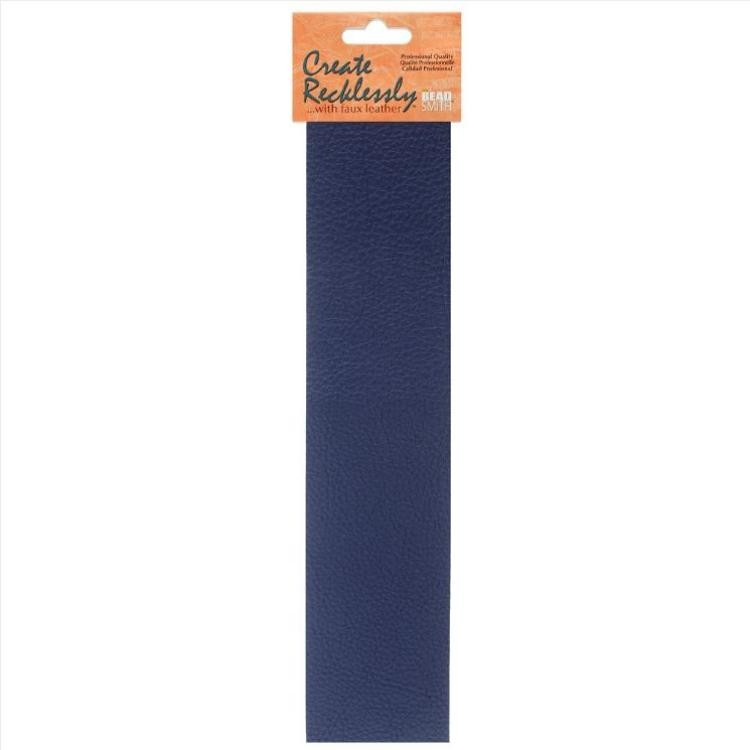 Create Recklessly, Symphony Faux Leather, 10 x 2 Inch Strip, x1pc, Iris Blue, UK Bead Shop