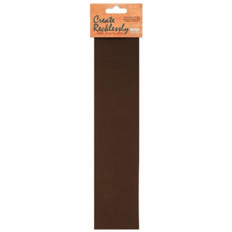 Create Recklessly, Symphony Faux Leather, 10 x 2 Inch Strip, x1pc, Mocha Brown