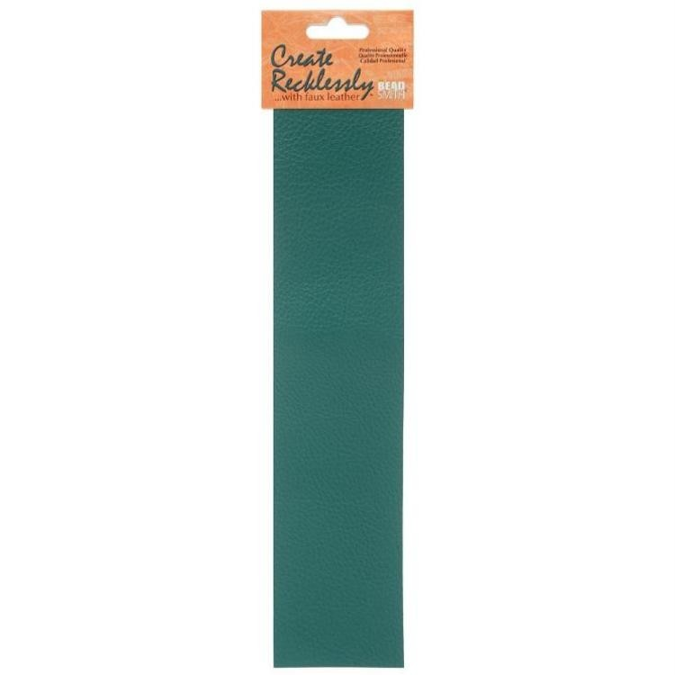 Create Recklessly, Symphony Faux Leather, 10 x 2 Inch Strip, x1pc, Bayou Teal, UK Bead Shop