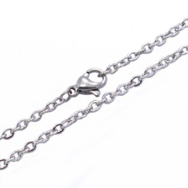 Stainless Steel 2.3mm Cable Chain Necklace 16 inch (43cm) x1