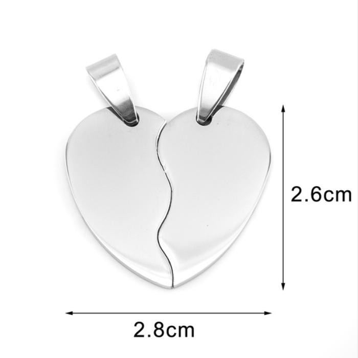 Stainless Steel Heart in Two Half Pieces 22x20mm 16ga Stamping Blank x1 Matching Pair