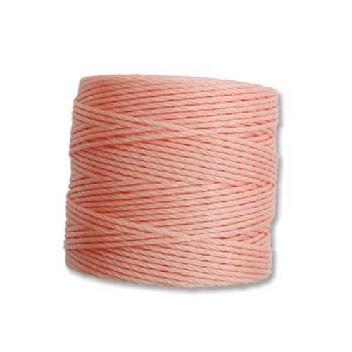 Coral Pink S-Lon, Superlon Tex 210, 0.5mm Bead Cord Coral Pink