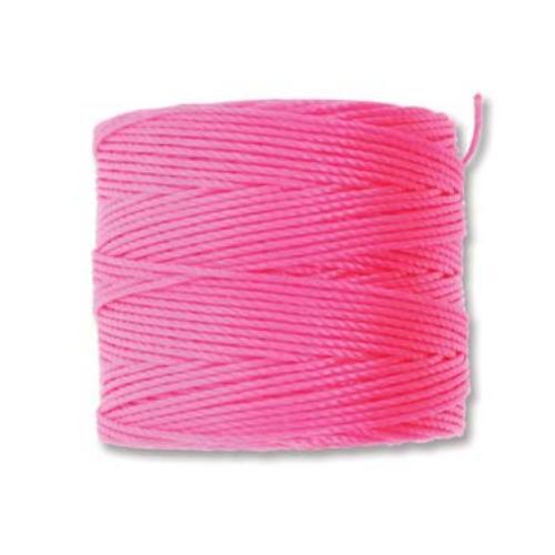 Neon Pink S-Lon, Superlon Tex 210, 0.5mm Bead Cord Neon Pink