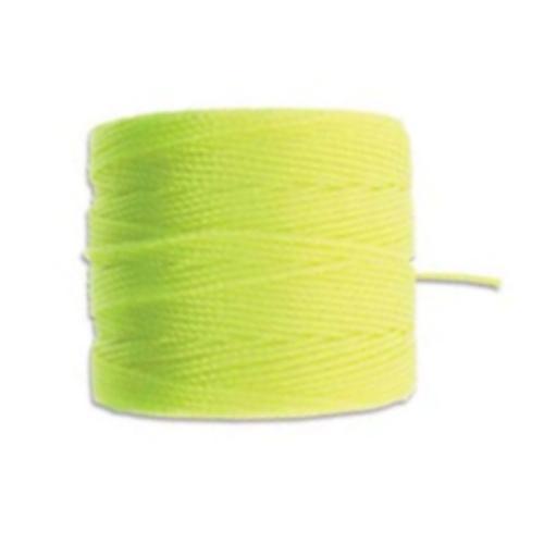 Neon Yellow S-Lon, Superlon Tex 210, 0.5mm Bead Cord Neon Yellow