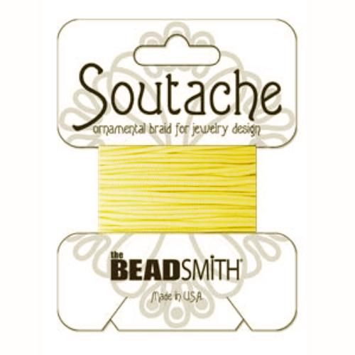 Soutache Braid Cord, Beadsmith 3mm - Maize 3yd retail pack
