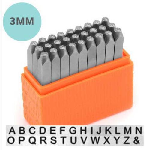 Basic Sans Serif Alphabet Upper Case Letter 3mm 1/8 Metal Stamping Kit - ImpressArt