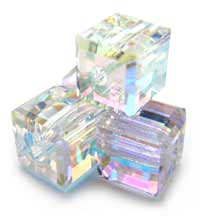 Swarovski Crystal Cube Beads 4mm