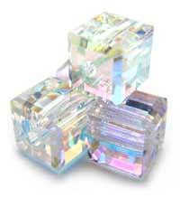 Swarovski Crystal Cube Beads 4mm