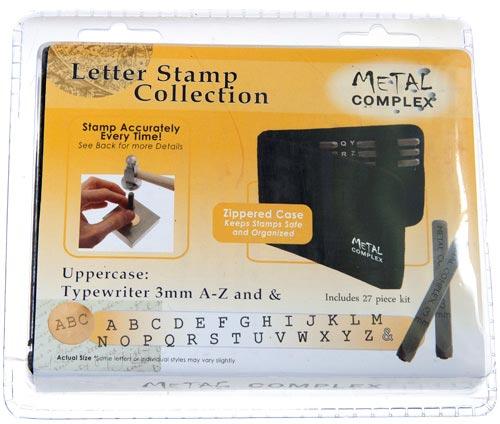 Metal Complex Stamps Typewriter Upper Case 3mm Font Alphabet Letter Metal Stamping Punch Set in Case x1