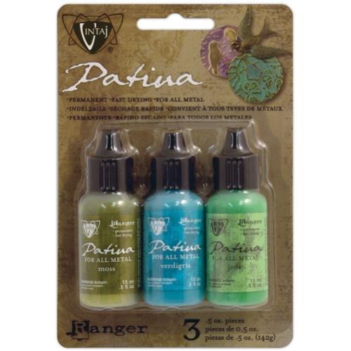 Vintaj Patina Kit Pack, Weathered Copper by Ranger x3 0.5oz Bottle Pack  UK Bead Shop