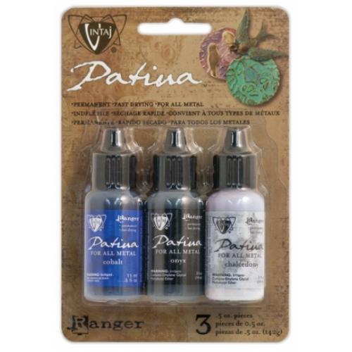 Vintaj Patina Kit Pack, Twilight in Paris by Ranger x3 0.5oz Bottle Pack  UK Bead Shop