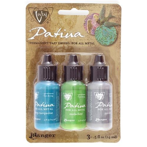Vintaj Patina Kit Pack, Santa Fe Market by Ranger x3 0.5oz Bottle Pack, Uk Bead Shop