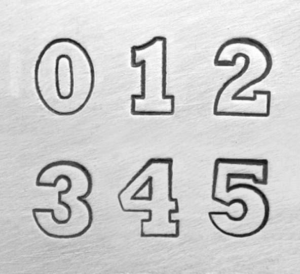 """6mm 1/4"""" Number Punch Set - Varsity - ImpressArt"""