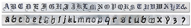 Canterbury Alphabet Letter Stamping Set - ImpressArt UK