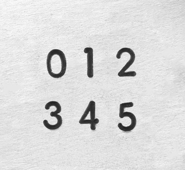ImpressArt Deco Number 1.5mm 1/16 Stamping Set font