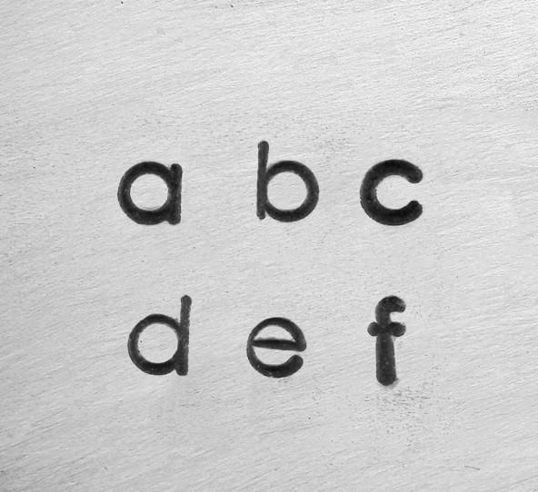 ImpressArt Deco Alphabet Lower Case Letter 1.5mm 1/6 Stamping Set Font