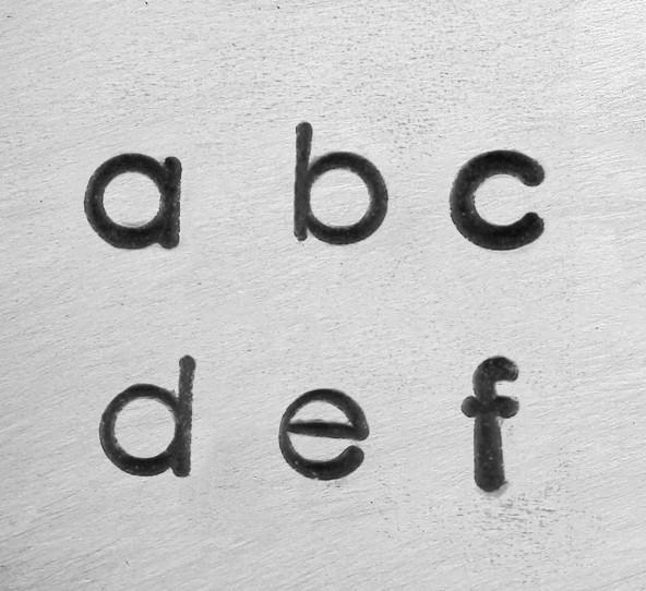 ImpressArt UK Deco Alphabet Lower Case Letter 3mm 1/8 Stamping Set Font
