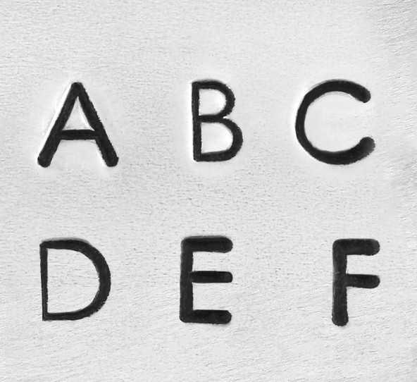 ImpressArt Deco Alphabet Upper Case Letter 3mm Stamping Set Font