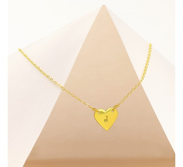 Personal Impressions, Heart, 13x14mm, Gold Plated Necklace Kit example